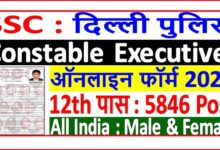 Photo of Delhi Police Constable Exam 2020 कॉन्स्टेबल और हेड कॉन्स्टेबल के लिए 5846 के पदों पर भर्ती,अंतिम तिथि 7 सितंबर, 2020